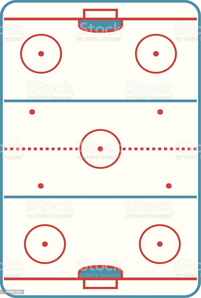 Hockey rink royalty-free stock vector art