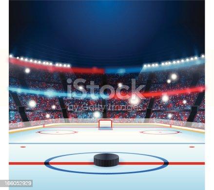 istock Hockey Rink 166052929
