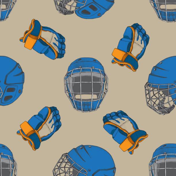 Vectores de Guante De Hockey Sobre Hielo y Illustraciones Libre de ...