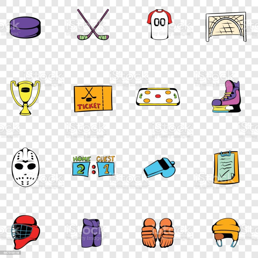 Hockey set icons royalty-free hockey set icons stock vector art & more images of cartoon