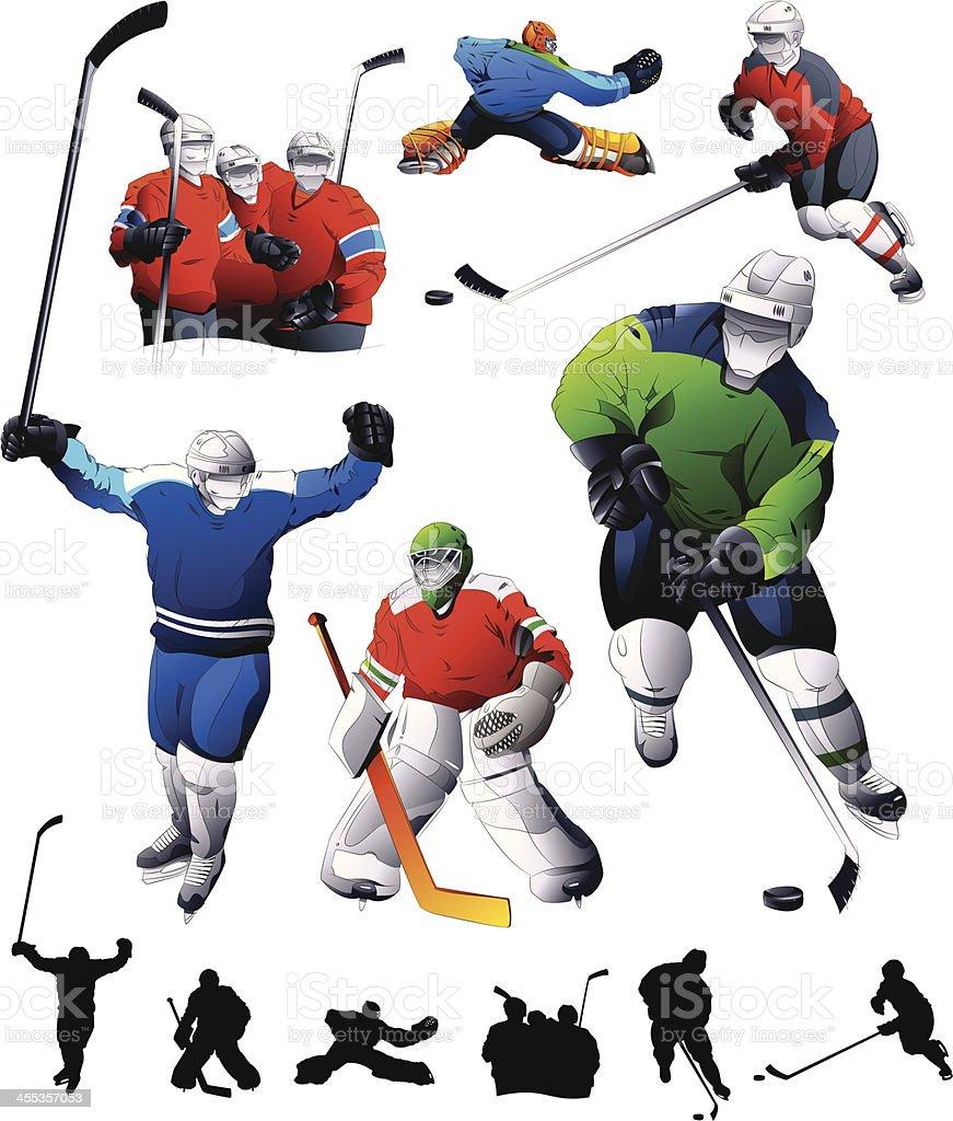 Hockey Set vector art illustration