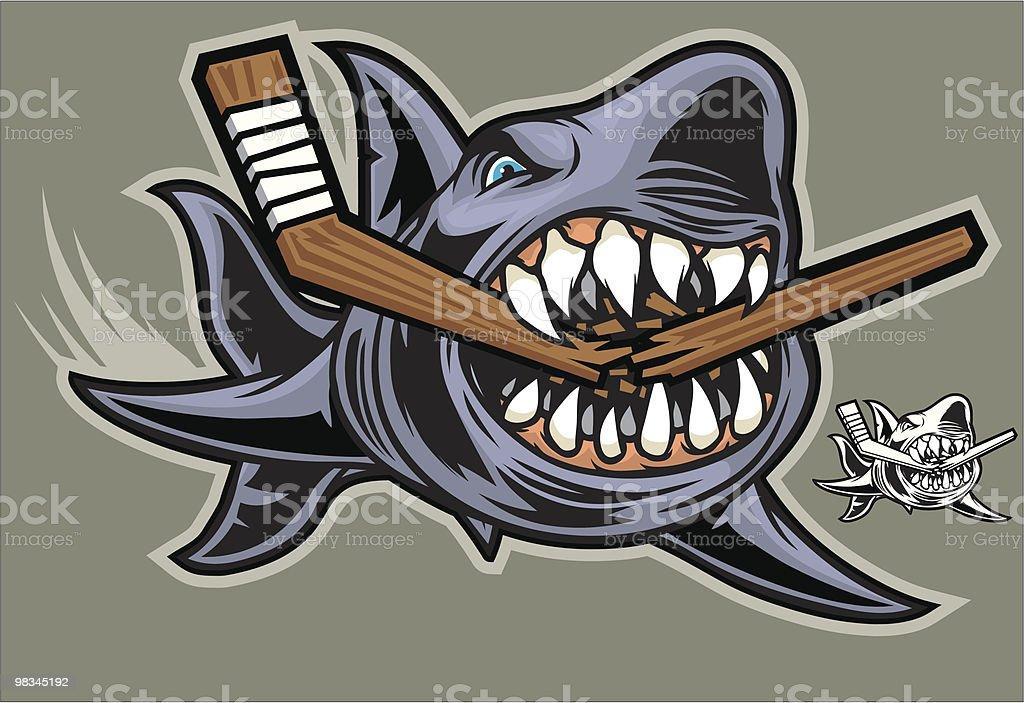 Squalo da Hockey squalo da hockey - immagini vettoriali stock e altre immagini di addentare royalty-free