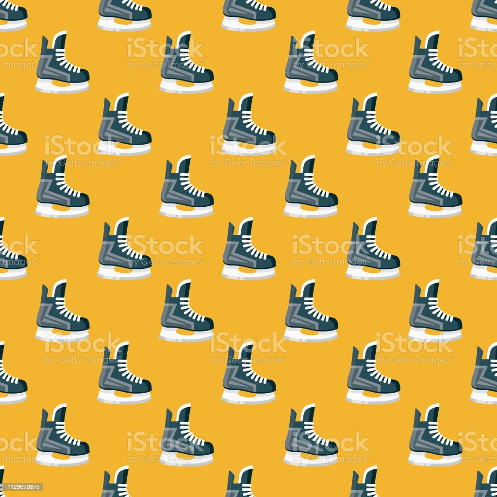 A seamless pattern created from a single flat design icon, which can...