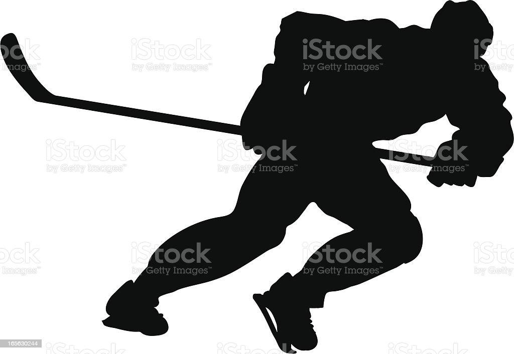 Hockey Sprint Silhouette royalty-free stock vector art