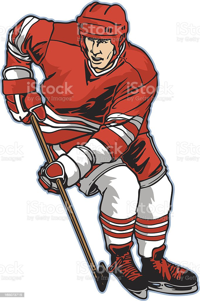 Hockey Stance2 royalty-free stock vector art