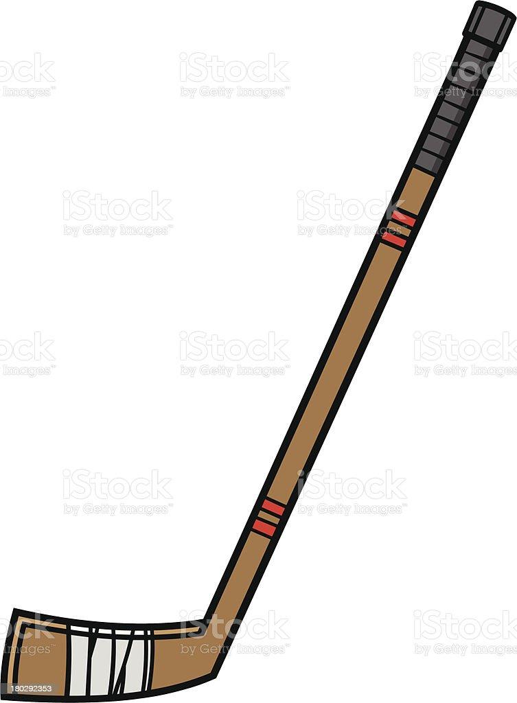 hockey stick stock vector art more images of cartoon 180292353 rh istockphoto com cartoon hockey stick and puck cartoon ice hockey stick