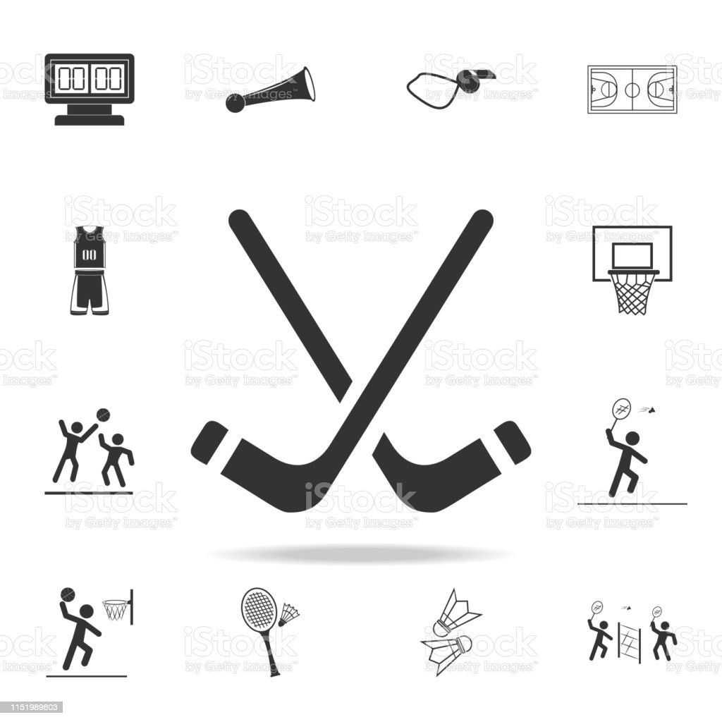 Ilustración De Icono De Palos De Hockey Conjunto Detallado De Los Iconos De Los Atletas Y Accesorios Diseño Gráfico De Calidad Premium Uno De Los Iconos De Colección Para Sitios Web Diseño