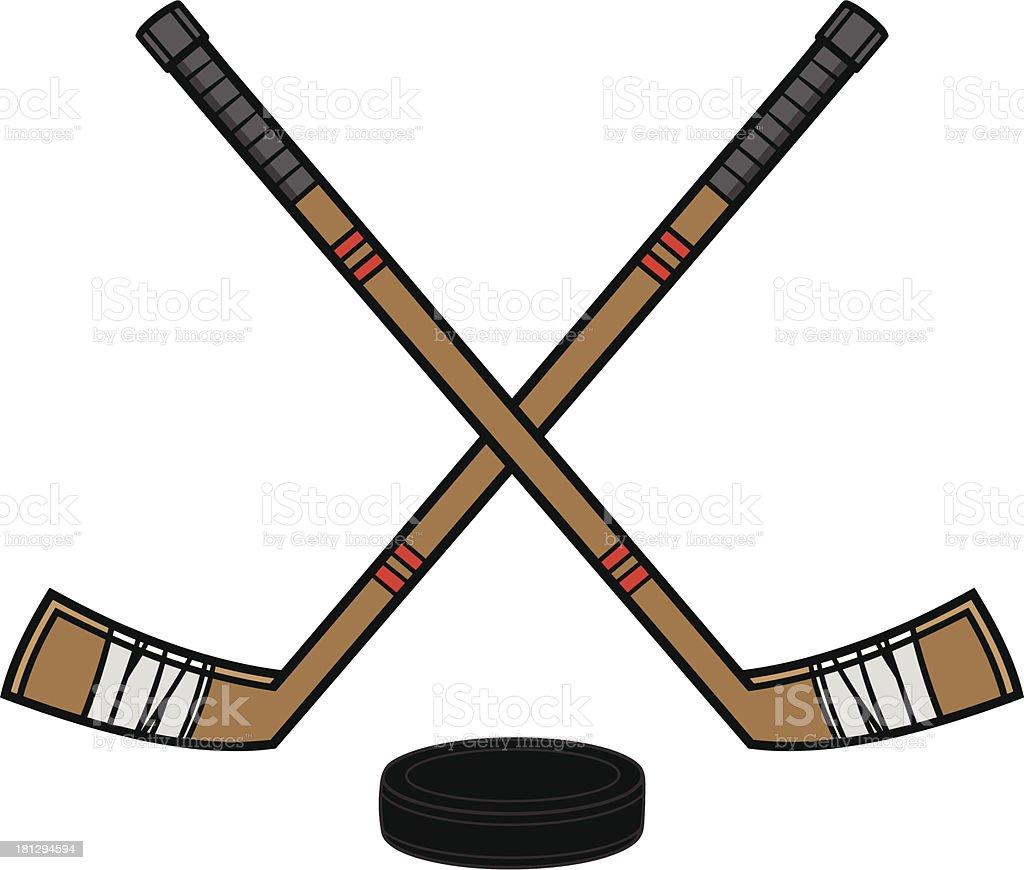 royalty free hockey stick clip art vector images illustrations rh istockphoto com hockey stick puck clipart hockey sticks clipart