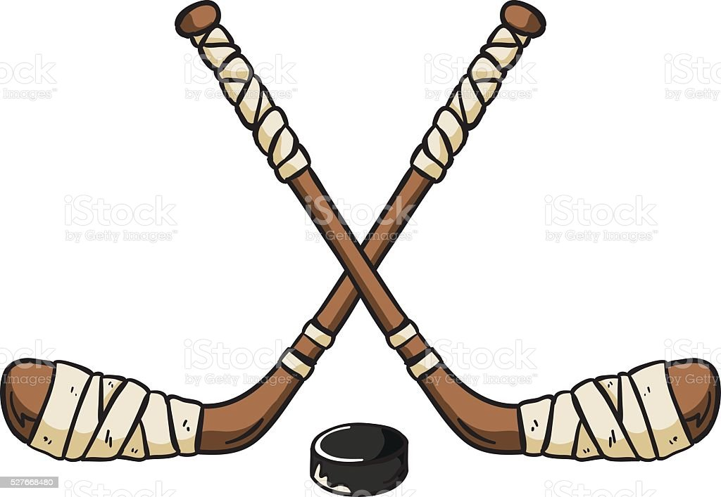 hockey sticks stock vector art more images of black color rh istockphoto com crossed hockey sticks clipart hockey sticks clipart free