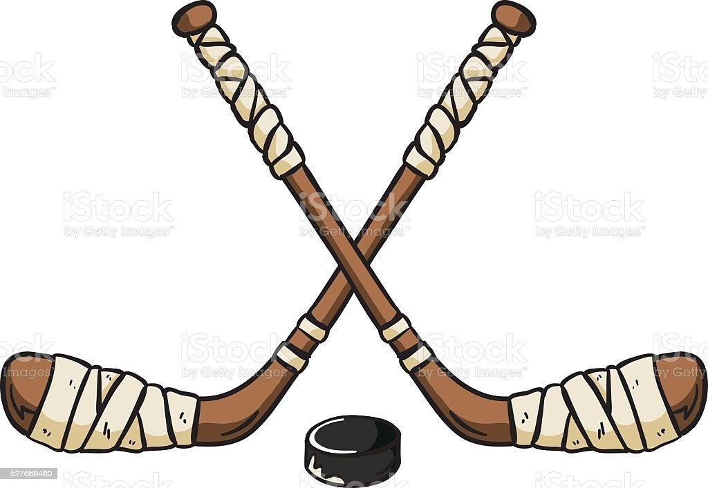 royalty free hockey stick clip art vector images illustrations rh istockphoto com hockey sticks clipart black and white crossed hockey sticks clipart