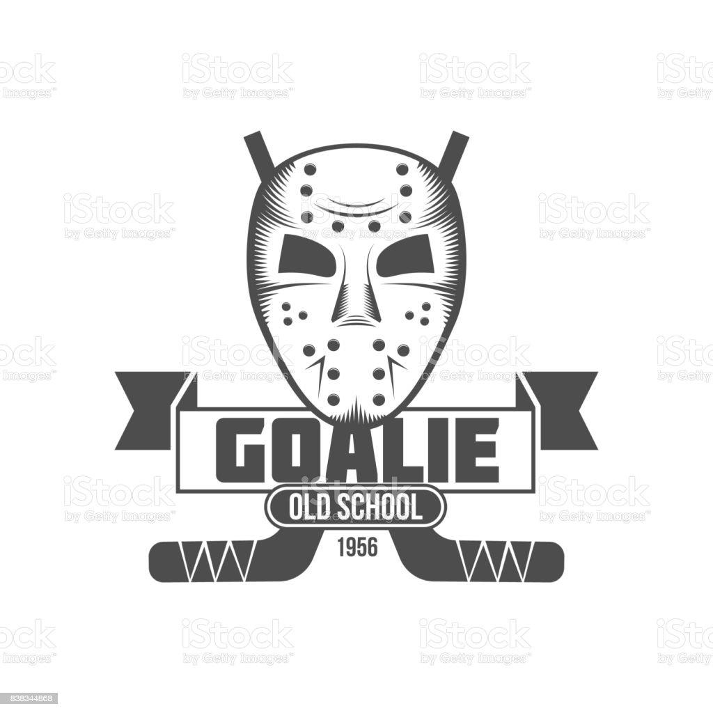 hockey symbol badge design elements vector art illustration