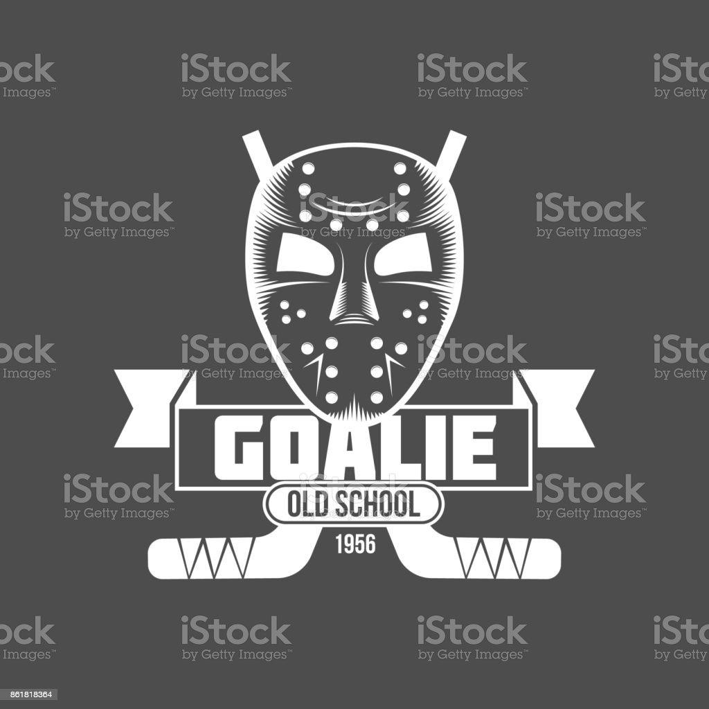 hockey symbol design vector art illustration