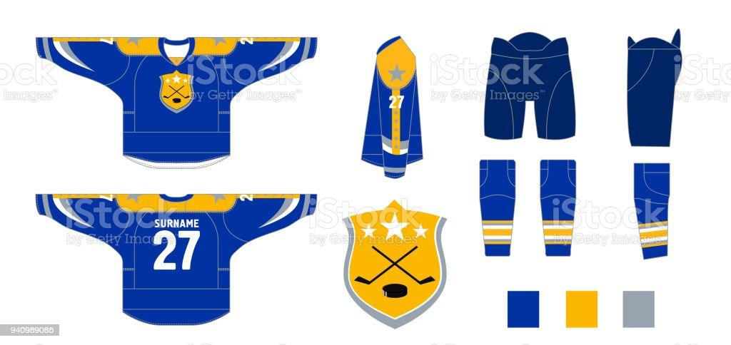 Eishockeyuniform Muster Schneiden Zum Nähen Stock Vektor Art und ...