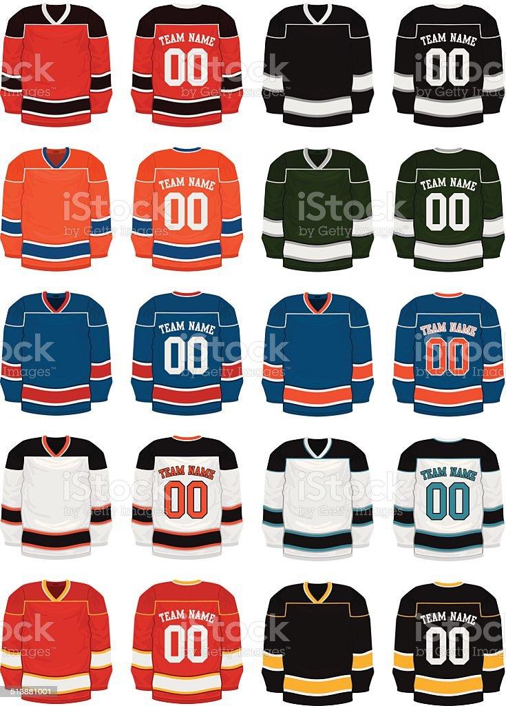 Hockey Uniforms vector art illustration
