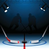 Detailed hockey background with copy space.