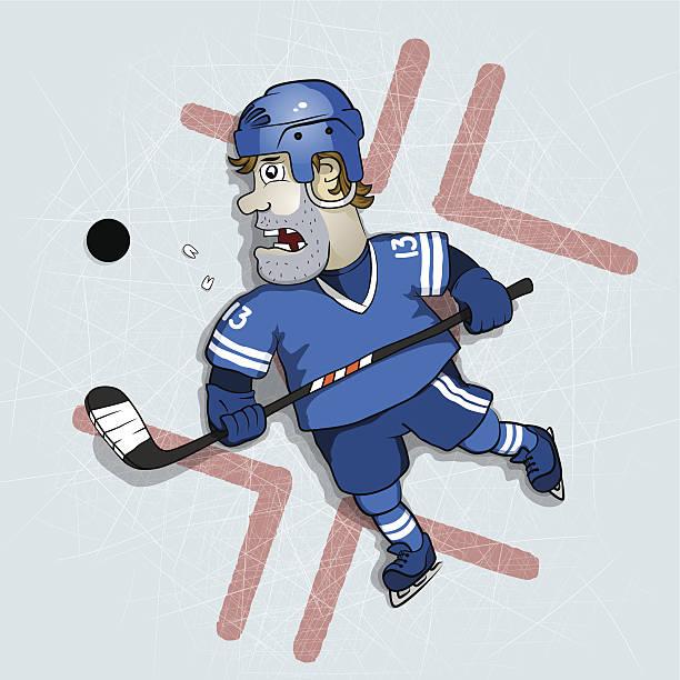 hockey - kopfschüsse stock-grafiken, -clipart, -cartoons und -symbole