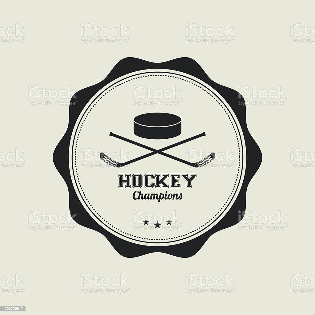 hockey vector art illustration