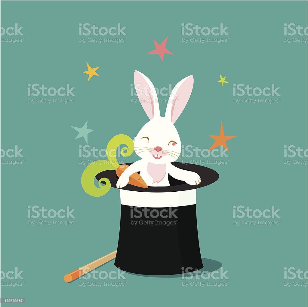 Hocus-pocus rabbit vector art illustration