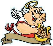 A heavenly hog fir your next BBQ or design.