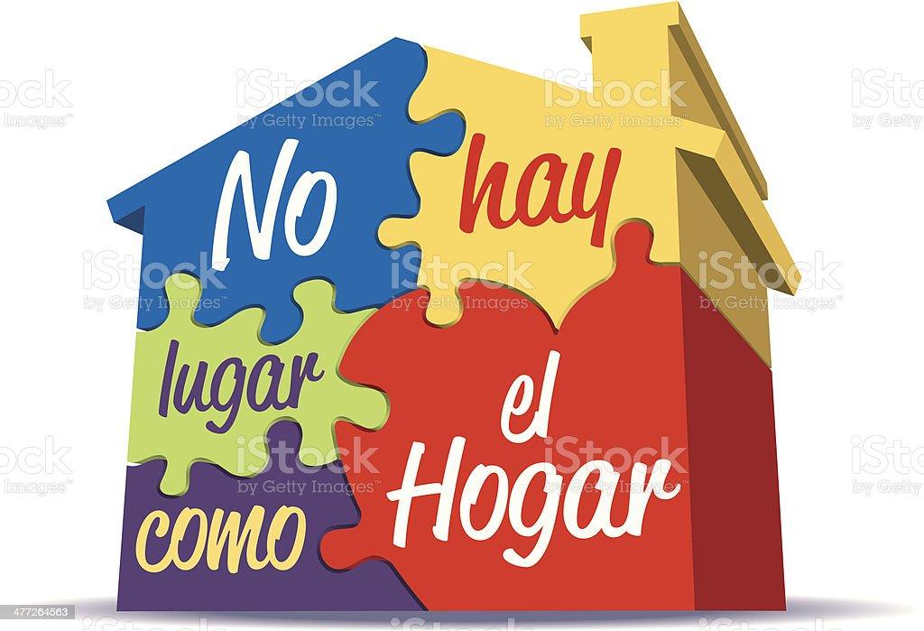 Hogar Heading C royalty-free stock vector art
