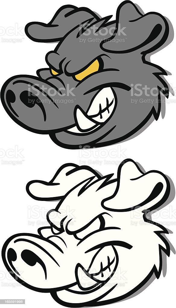 Hog's Head royalty-free hogs head stock vector art & more images of anger