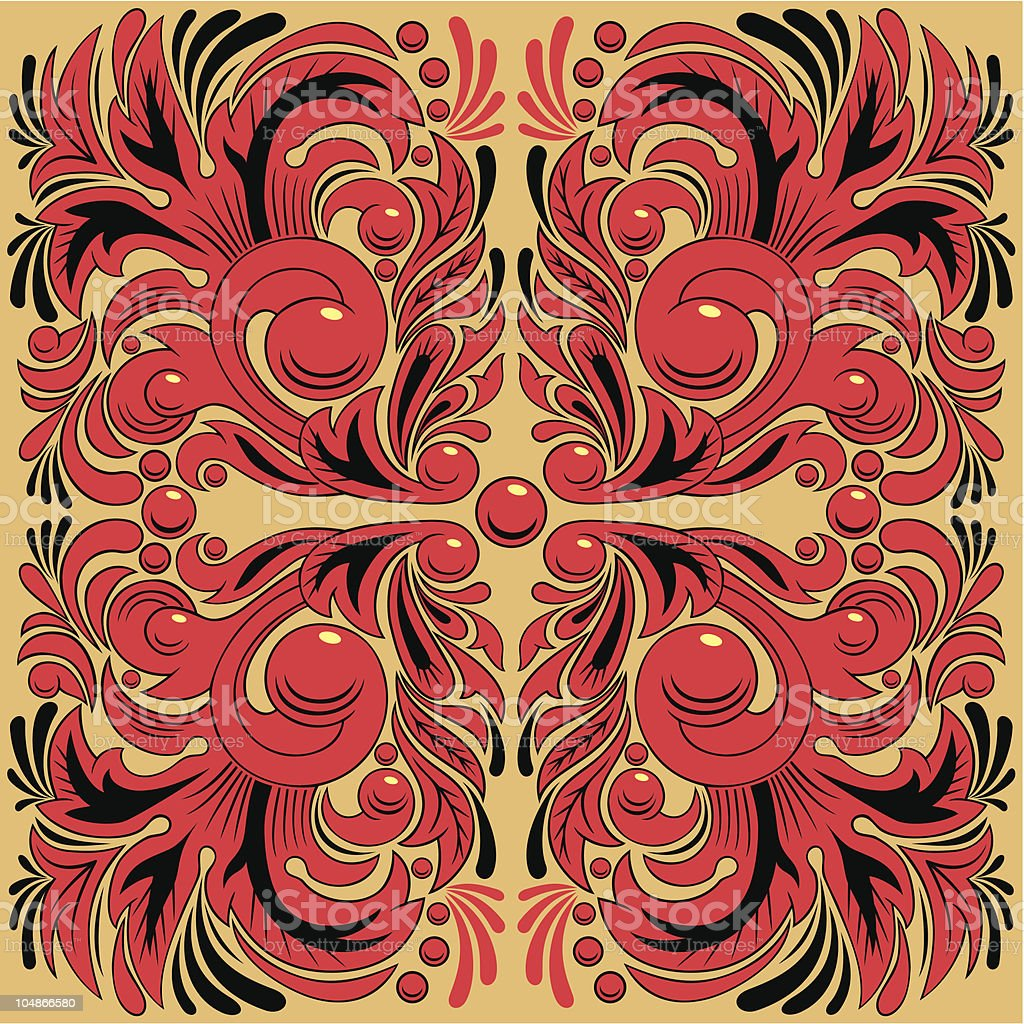 Hohloma royalty-free hohloma stock vector art & more images of berry fruit