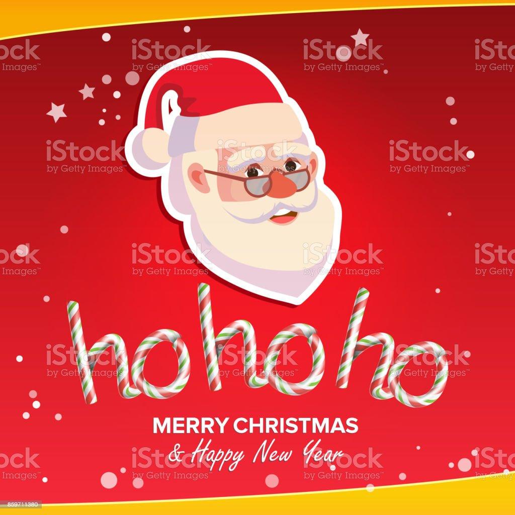 Vetores De Hohoho Frase Sinal Vector Feliz Natal Saudação