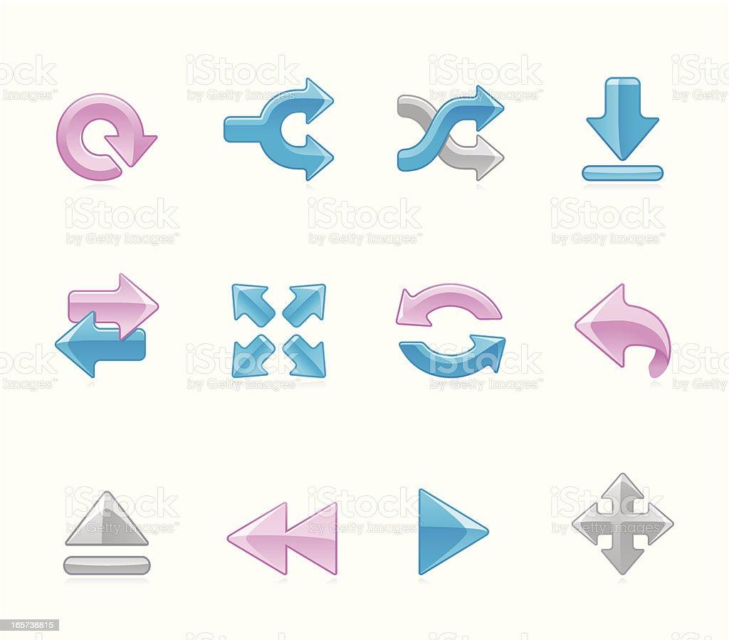 Hola icons - Arrows royalty-free stock vector art