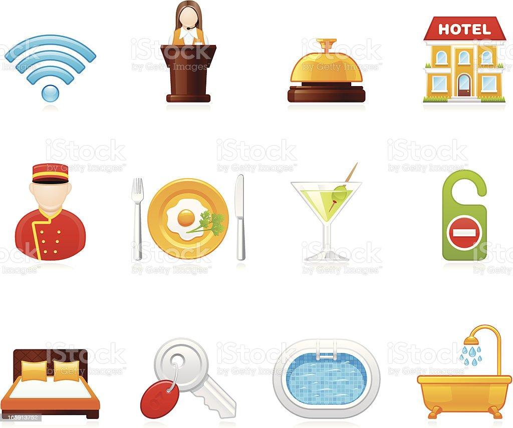 Hola icons - Hotel vector art illustration