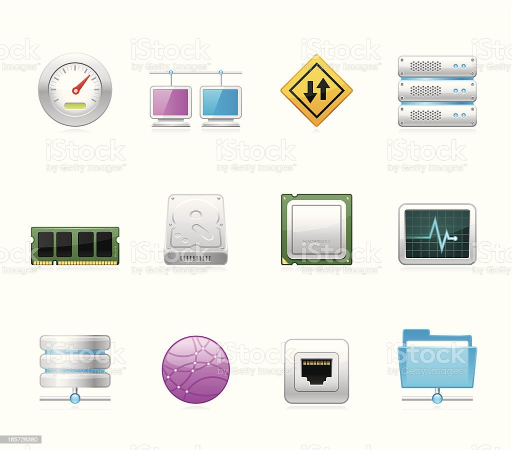 Hola icons - Internet and Hosting vector art illustration