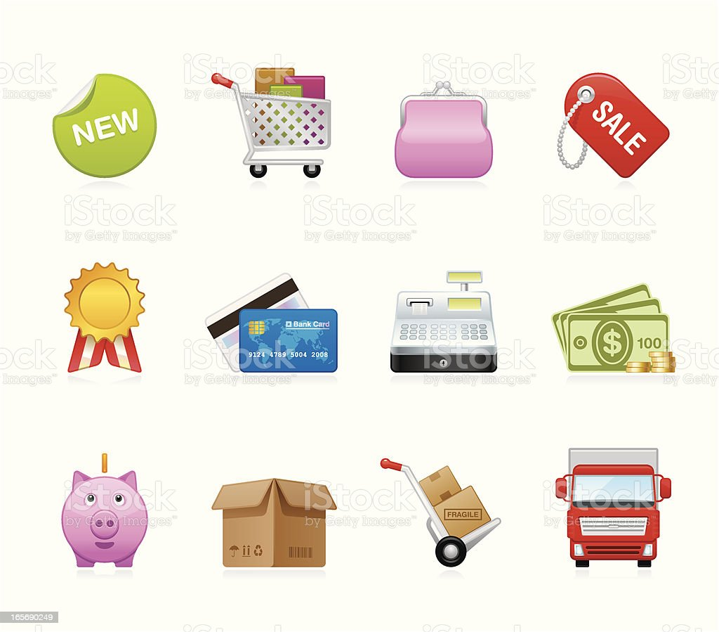 Hola icons - Retail and Shopping royalty-free stock vector art