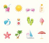 Vacation at sea / Hola icons / Set 7