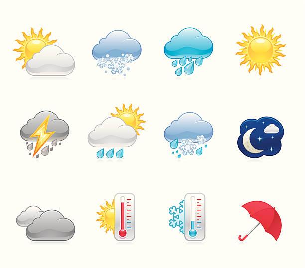 Hola icons - Weather Weather forecast / Hola icons / Set 19 forked lightning stock illustrations