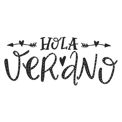 Hola Verano black colored lettering