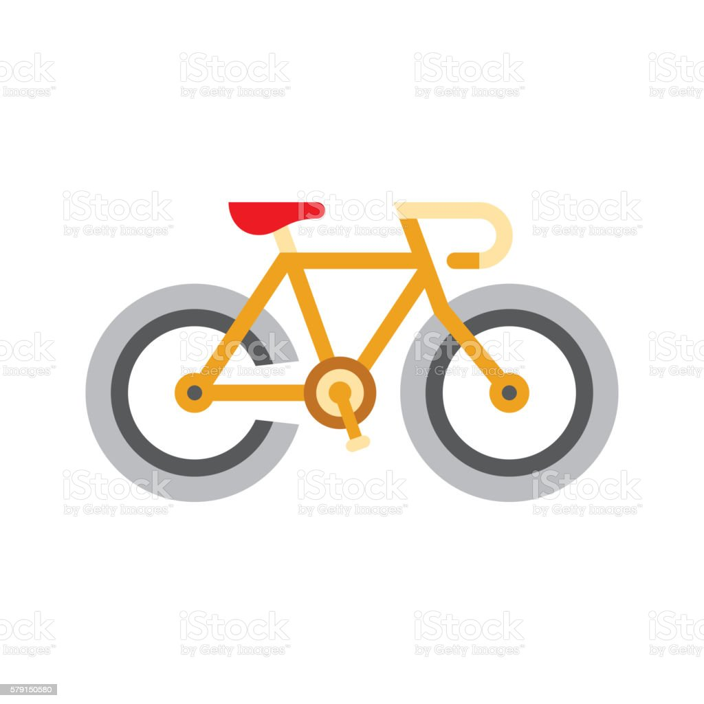 Holandaise Bicycle Simplified Icon vector art illustration