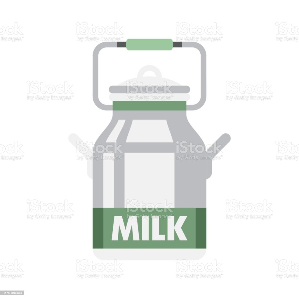 Holandaise Milk Simplified Icon vector art illustration