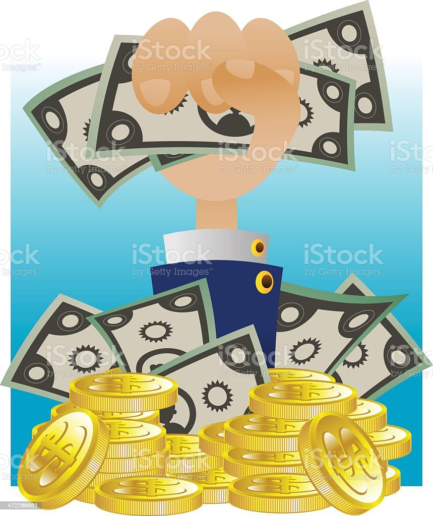 Hold the Cash royalty-free hold the cash stock vector art & more images of business