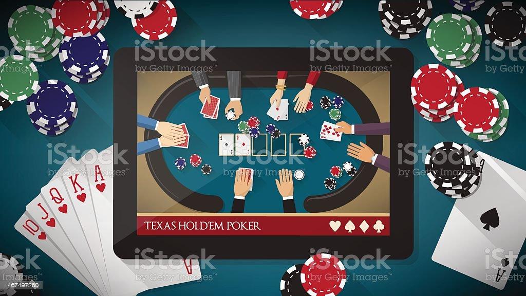 Hold'em poker app vector art illustration
