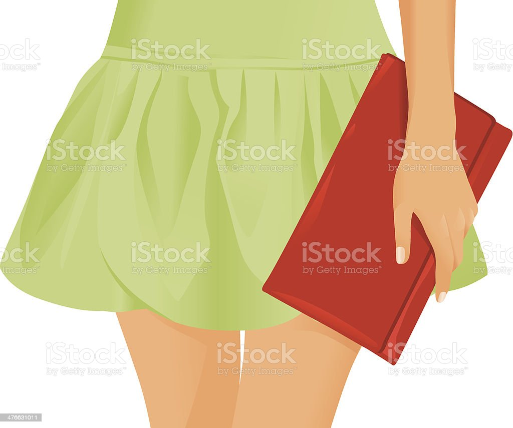 holding a purse royalty-free stock vector art