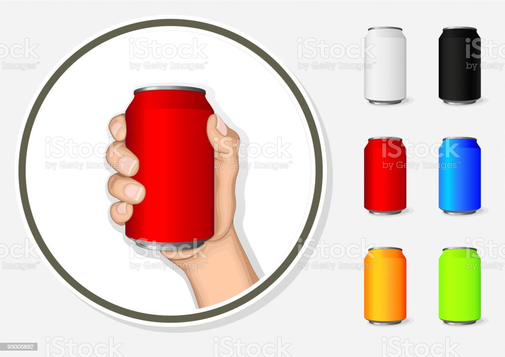 Holding Aluminum Can royalty-free stock vector art