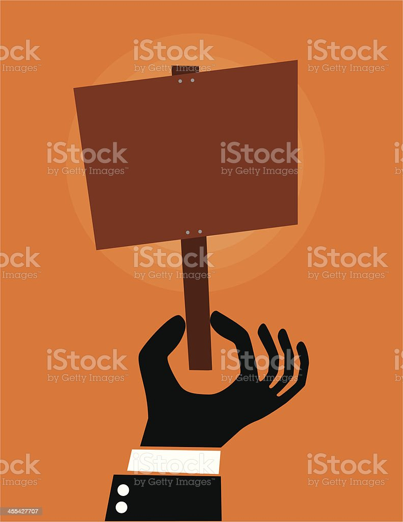 Holding blank sign royalty-free holding blank sign stock vector art & more images of blank