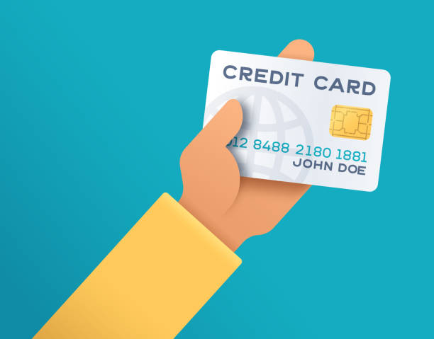 holding credit card - credit cards stock illustrations, clip art, cartoons, & icons