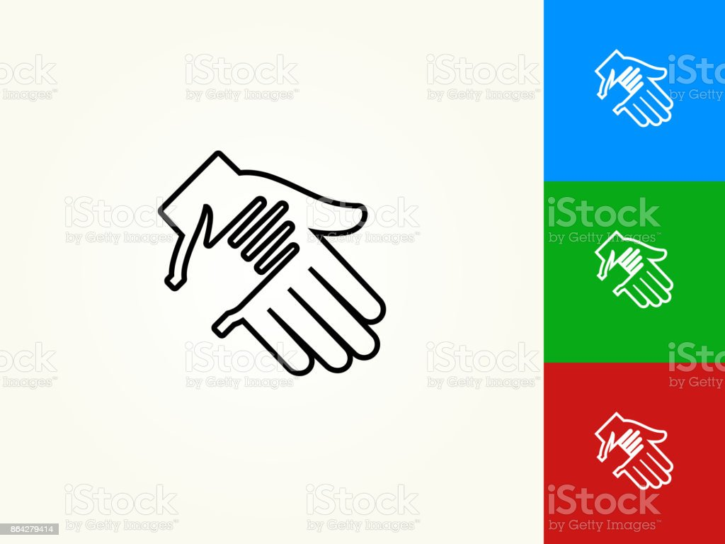 Holding Hand Black Stroke Linear Icon royalty-free holding hand black stroke linear icon stock vector art & more images of a helping hand