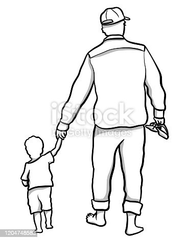 istock Holding Hands Learning To Walk Baby 1204748583