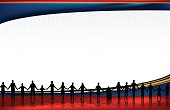 Holding Hands - Standing United Teamwork Background