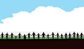Holding Hands - United Community Cloud Background