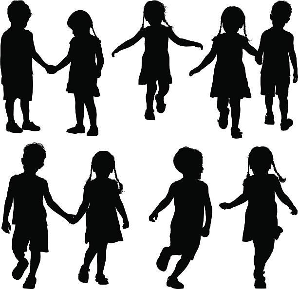 ilustrações, clipart, desenhos animados e ícones de segurando as mãos - irmã