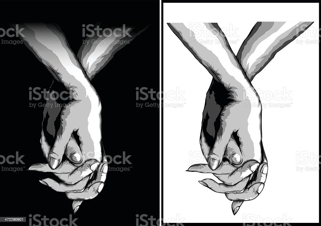 Holding Hands royalty-free stock vector art