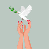 Love and peace illustration