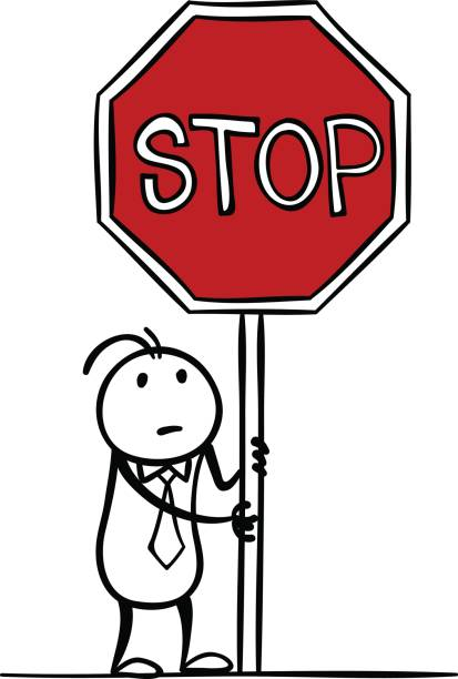 Best Cartoon Of The Stop Sign Black And White ...